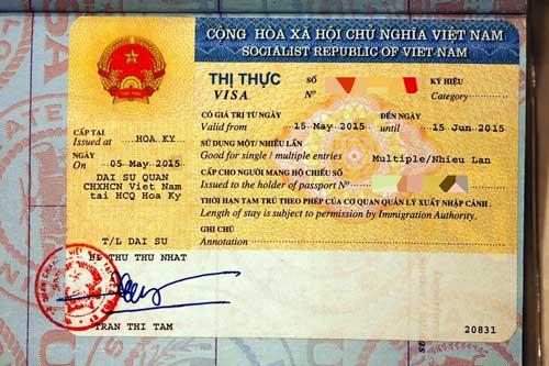 越南落地簽證